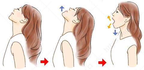 頭がポカポカ・二重あご防止ストレッチ 不眠 改善 習慣