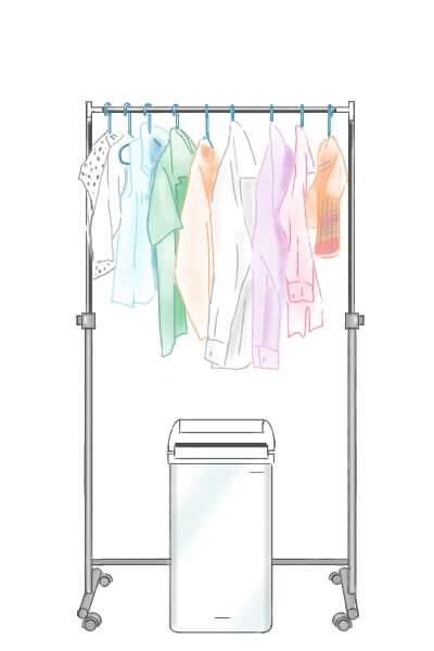 除湿機を洗濯物の真下に置く 部屋干し 臭い