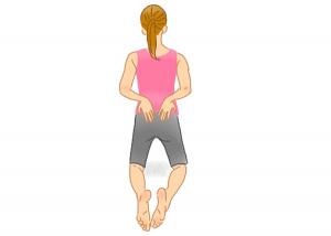 立てひざストレッチ解説2 骨盤 腰痛