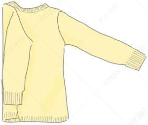 ニット・セータのたたみ方1 セーター たたみ方