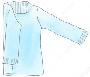 タートルネックセータのたたみ方 セーター たたみ方