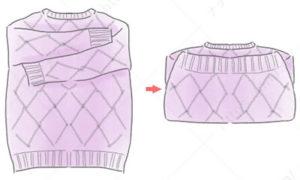 厚手のセータのたたみ方2 セーター たたみ方