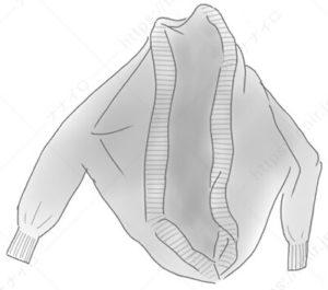 変形カーディガンのたたみ方2 セーター たたみ方