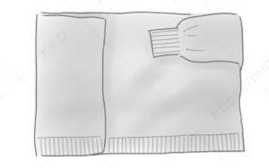 変形カーディガンのたたみ方5 セーター たたみ方