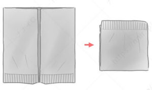 変形カーディガンのたたみ方6 セーター たたみ方