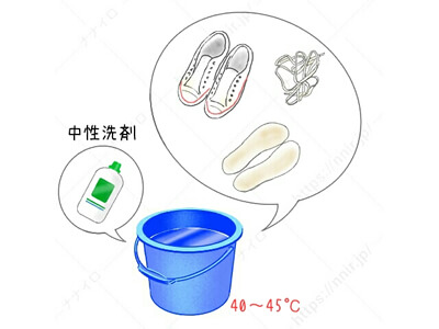 中性洗剤での基本の洗い方1 白 スニーカー 手入れ