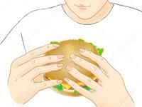 ハンバーガーを崩さずに食べる1 さんま きれいな 食べ方