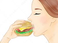 ハンバーガーを崩さずに食べる2 さんま きれいな 食べ方