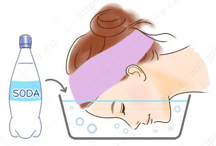 炭酸水を用いた洗顔の方法 角質ケア 顔