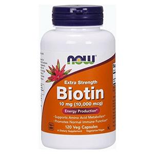 NOW Foods biotin ビオチン 10mg(10000mcg) 120粒