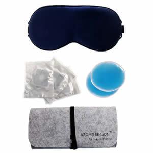 Aroma Season 睡眠アイマスク 両面シルク 温冷両用ジェルパック